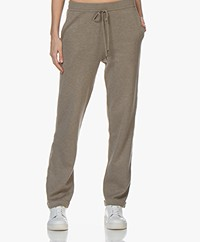 Repeat Fine Knit Sweatpants with Side Stripes - Khaki