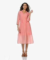 Josephine & Co Ber Seersucker Midi Dress - Coral Pink