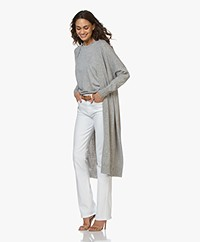 Sibin/Linnebjerg Sister Long Open Cardigan - Sweat grey