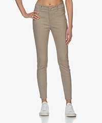 Drykorn Winch Skinny Pants with Print - Beige