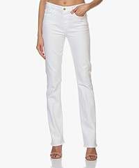 FRAME Le Mini Boot Stretch Jeans - White