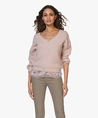 by-bar Bobbi Alpaca Blend V-neck Sweater - Light Ash Rose