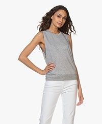Filippa K Soft Sport Cool-down Lyocell Jersey Top - Light Grey