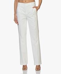 Drykorn Essay Jersey Pantalon met Rechte Pijpen - Off-white