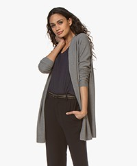Drykorn Kanela Mid-length Open Cardigan - Grey