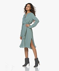Filippa K Milla Recycled Chiffon Dress - Mint Powder