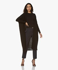 Sibin/Linnebjerg Sister Long Open Cardigan - Black