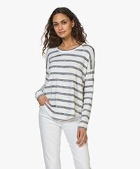 Rag & Bone The Knit Striped Sweater - White/Navy