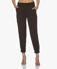 Drykorn Rase Loose-fit Twill Pants - Black