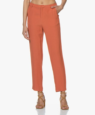 MKT Studio Patricia Viscose Crêpe Pantalon - Terracotta Oranje