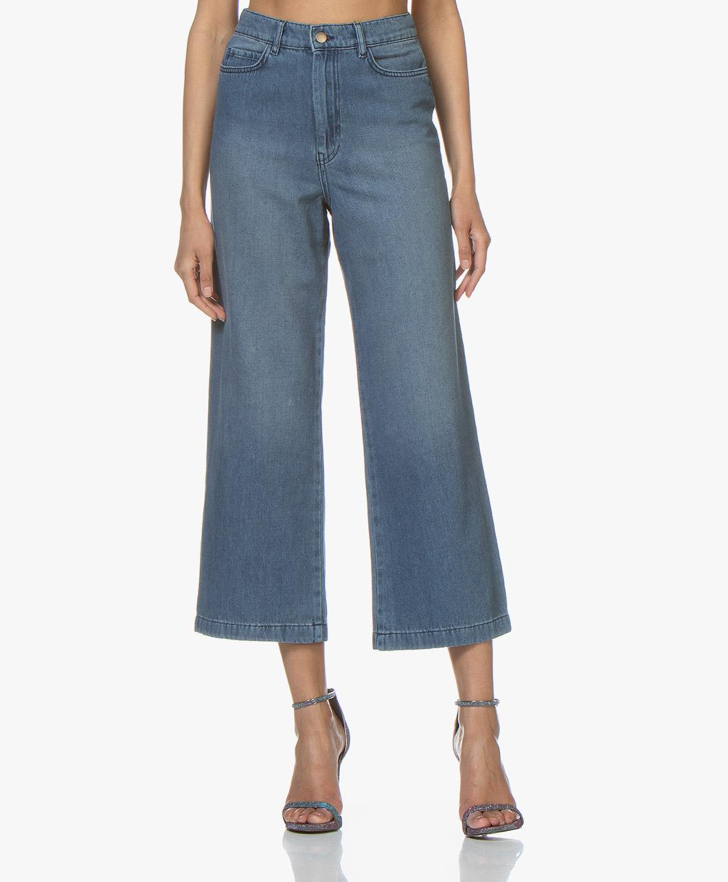 Afbeelding van ba&sh Jeans Talent Cropped in Blue