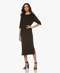 Drykorn Efta Milano Knitted Midi Dress - Black