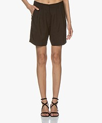forte_forte Pleated Shorts - Black