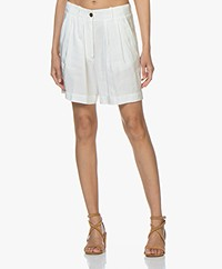 forte_forte Pleated Shorts - White