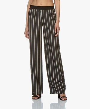 BY-BAR Cruz Stripe Pants - Phantom Black