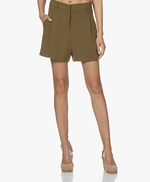 BY-BAR Lexi Crepe Shorts - Earth
