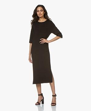 Drykorn Efta Milano Knitted Midi Dress - Black