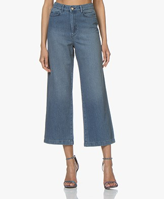 ba&sh Talent Cropped Jeans - Blue Jeans