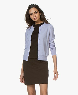 Filippa K Merino Short Cardigan - Hyacinth