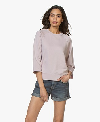 Filippa K Soft Sport Mid Sleeve Sweater - Frosty Pink