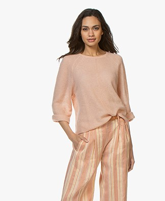 By Malene Birger Knitted Boxy Sweater - Pink Sand