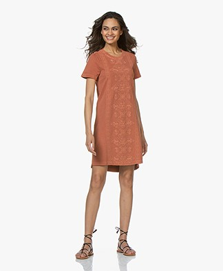 indi & cold Garment Dyed Embroidered Sweater Dress - Ambar