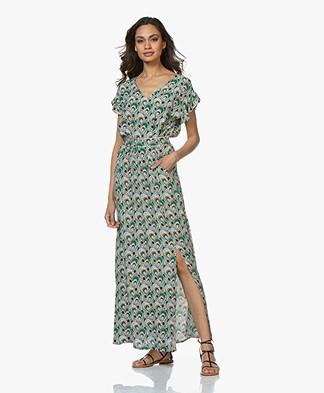 La Petite Française Rachel Printed Crepe Dress - Paon
