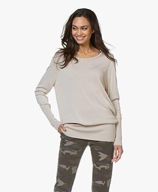 Sibin/Linnebjerg Senise Fine Knitted Tunic Sweater - Sand