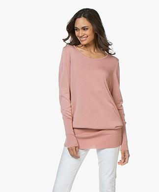 Sibin/Linnebjerg Senise Fine Knitted Tunic Sweater - Dark Nude