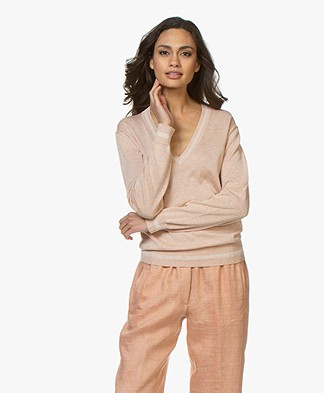 Rag & Bone Kento V-Neck Sweater - Rose Dust