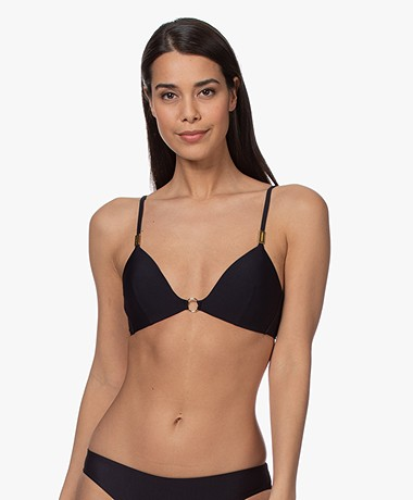 Calvin Klein Fixed Triangle Bikini Top - Black