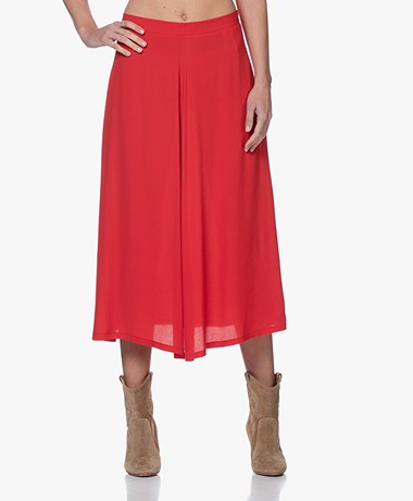by-bar Mavis A-line Viscose Crepe Skirt - Salsa