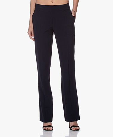 JapanTKY Nayu Travel Jersey Pants - Black Blue