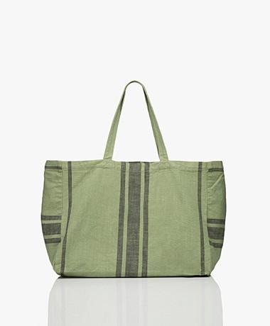 indi & cold Katoenen Shopper - Basilico