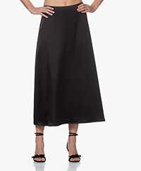 LaDress Kendall Satin Maxi Skirt - Black