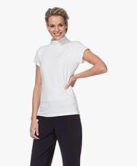 no man's land Short Sleeve Turtleneck T-shirt - Ivory