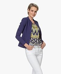 Kyra & Ko Stijn Jersey Blazer Jacket - Denim
