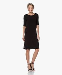 Kyra & Ko Alaska Viscose Crepe Jersey Dress - Black