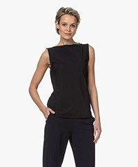 Woman By Earn Dewi Tech Jersey Boothals Top - Zwart