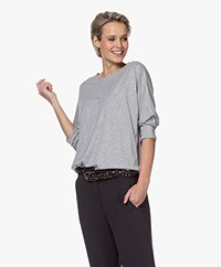 Repeat Lyocell Blend Batwing T-shirt - Grey