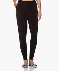 Kyra & Ko Barta Crêpe Jersey Pleated Pants - Black