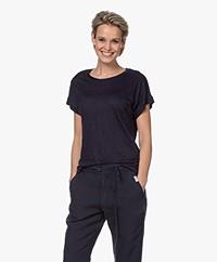 MKT Studio Tadour Linen T-shirt - Navy