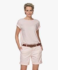Closed Slub Jersey A-lijn T-shirt - Soft Pink