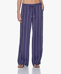 Kyra & Ko Seven Striped Cupro Pants - Denim