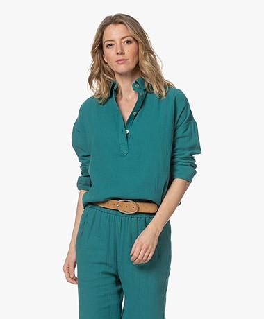 Shades Antwerp Nilan Mousseline Blouse - Turquoise