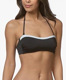 Calvin Klein Logo Bandeau Bikini Top - Black