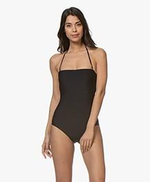 Calvin Klein Strapless Bandeau Swimsuit - Black
