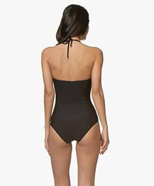 Calvin Klein Strapless Bandeau Swimsuit - Black