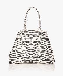 Ragdoll LA Holiday Zebra Canvas Bag - White