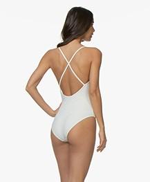 Filippa K Soft Sport Cross-back Badpak - Off-white